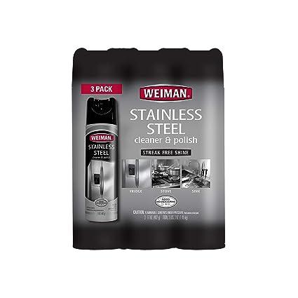 Un artículo de Weiman limpiador de acero inoxidable y pulido ...