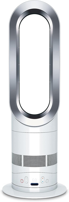 Dyson AM05 Hot + Cool Fan Heater, White/Silver