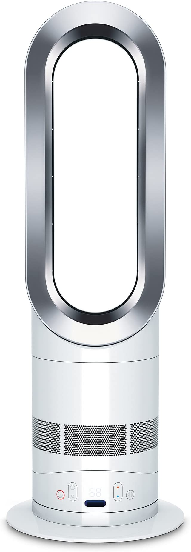 Dyson AM05 Hot + Cool Fan Heater, White/Silver