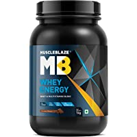MuscleBlaze Whey Energy, 1 kg / 2.2 lb Chocolate