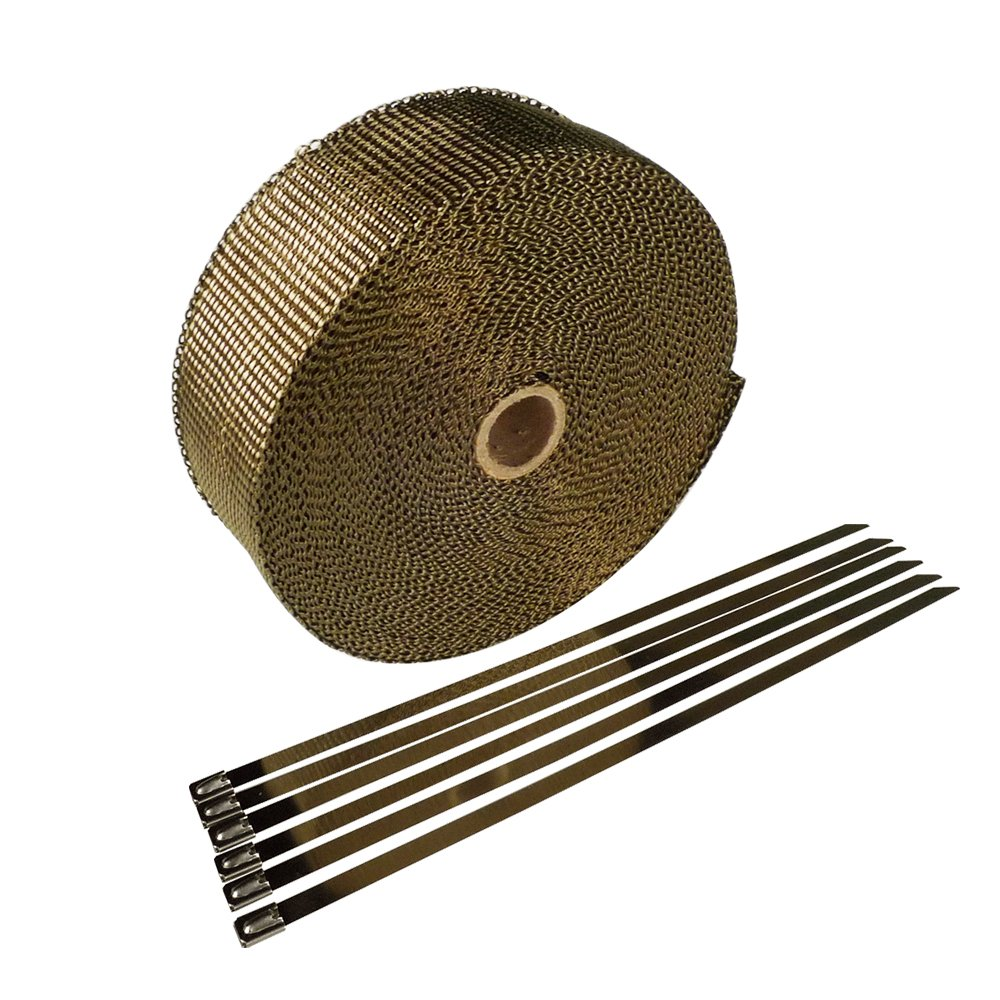 HM&FC Version Two Titanium Exhaust Wrap with Better Surface 50 Feet (L)* 2 Inch (W)