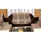 Zesture 6 piece mahroon sofa cover and chair cover set