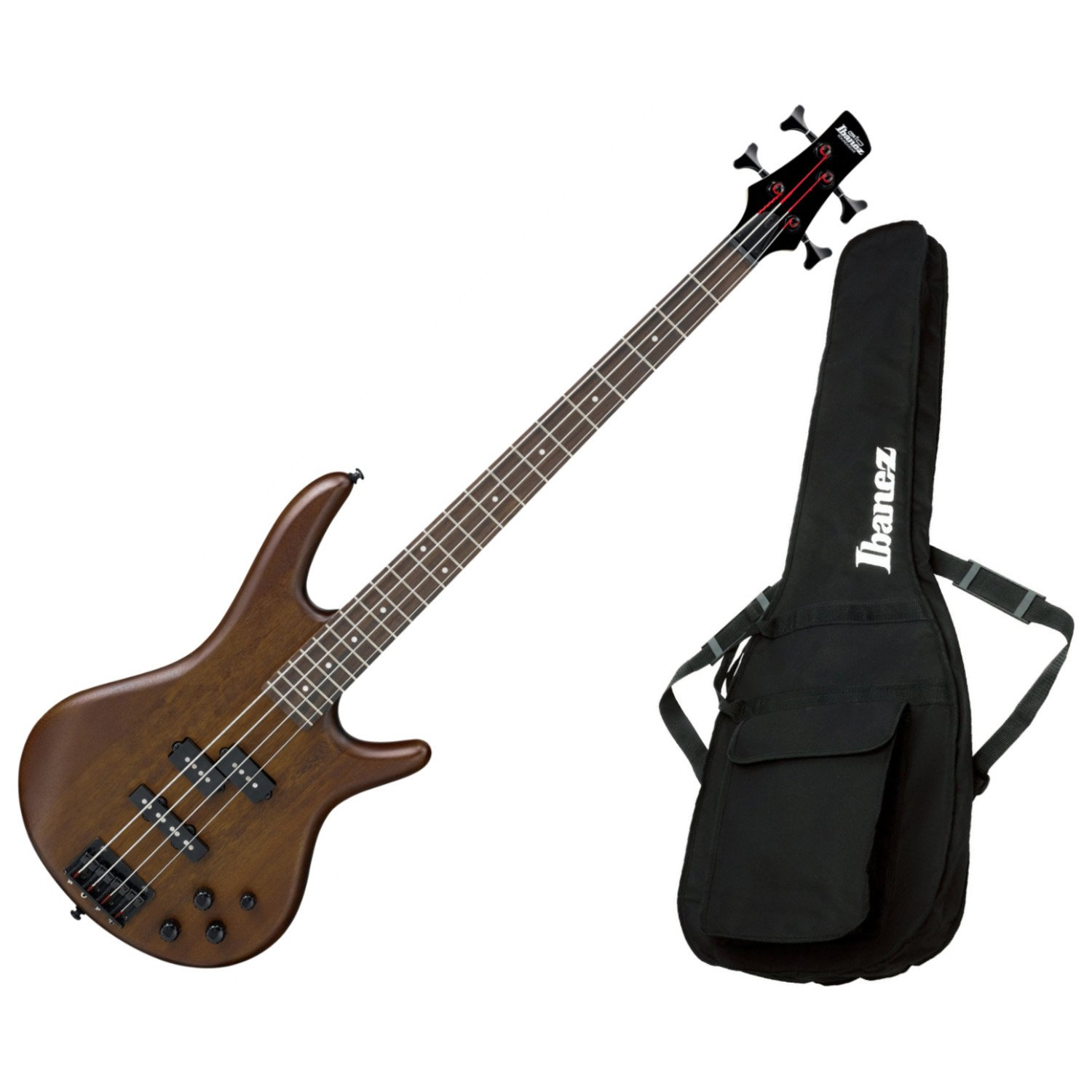 Ibanez GSR200BWNF 4-String Electric Bass Walunt Flat Finish with Gig Bag