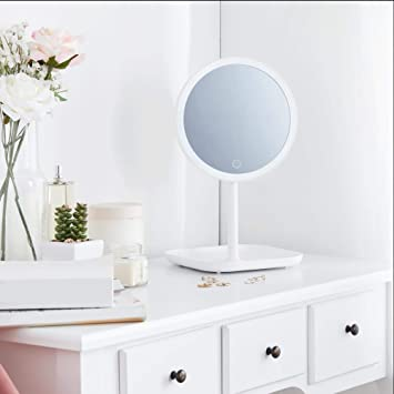 Small Lighted Makeup Mirror.Beautify Small Lighted Vanity Makeup Mirror With Led Lights Usb Charger Removable 10x Magnifying Mirror