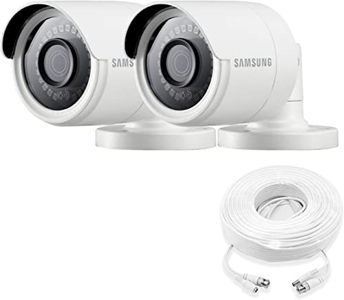 Samsung Wisenet SDC-89440BB-2PK – 4MP Weatherproof Bullet Camera 2-Pack Compatible with SDH-C85100BF