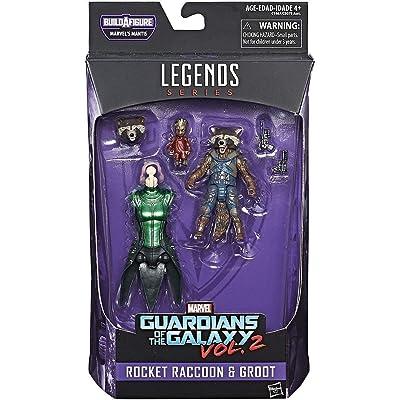 Rocket Raccoon y Groot Marvel Legends Series Mantis Guardians Of The Galaxy Vol 2 Action Figure: Juguetes y juegos
