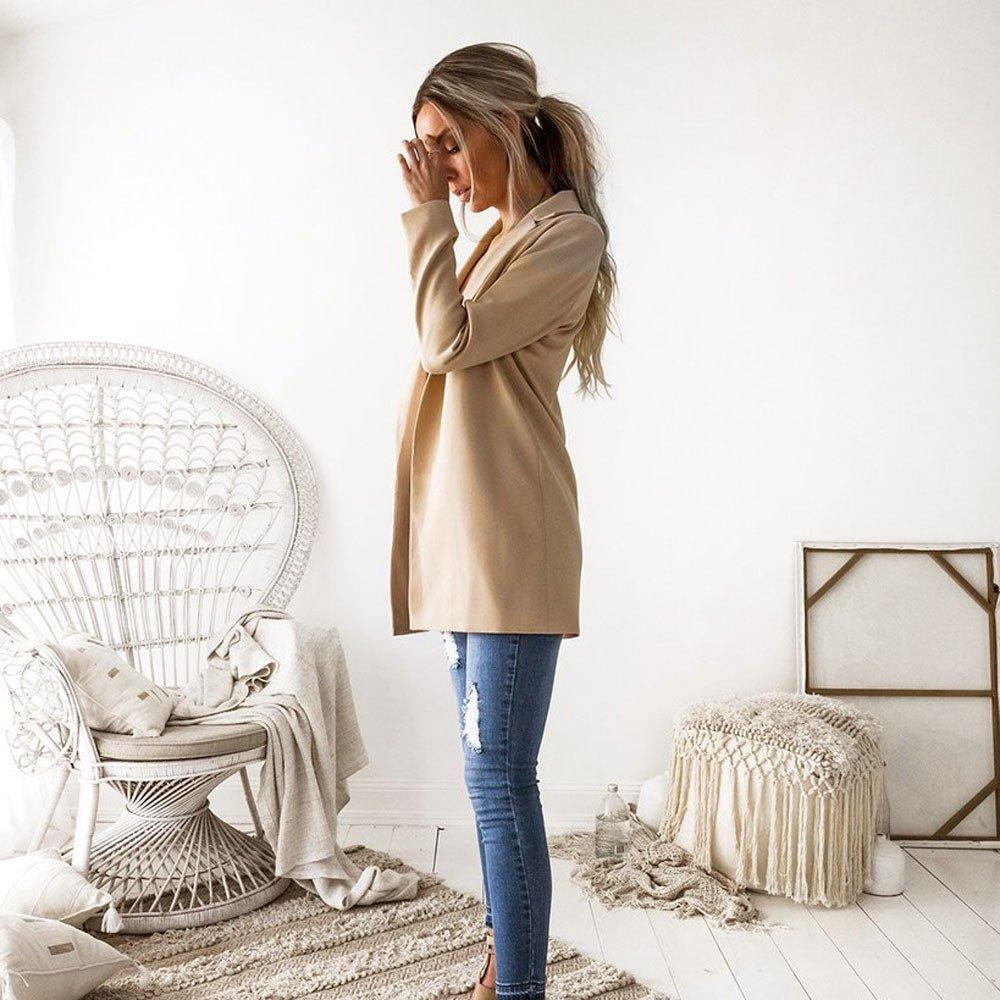 Alixyz Women Outwear Casual Blazer Suit Fashion Long Sleeve Cardigan Jacket Coat