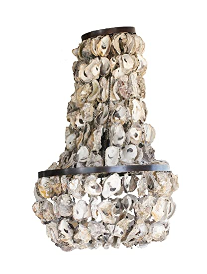 Amazon creative co op oyster shell chandelier 175 round by creative co op oyster shell chandelier 175quot round by 29quot aloadofball Images