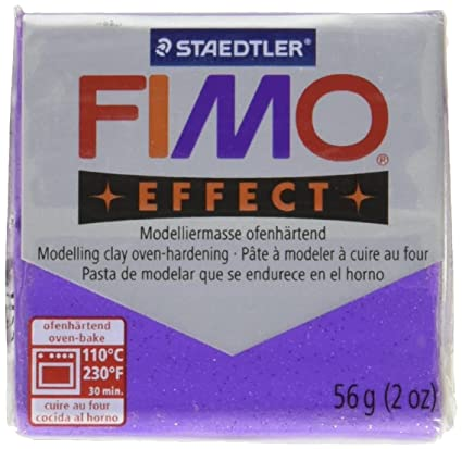 Fimo Soft Clay 56gm Glitter Lilac