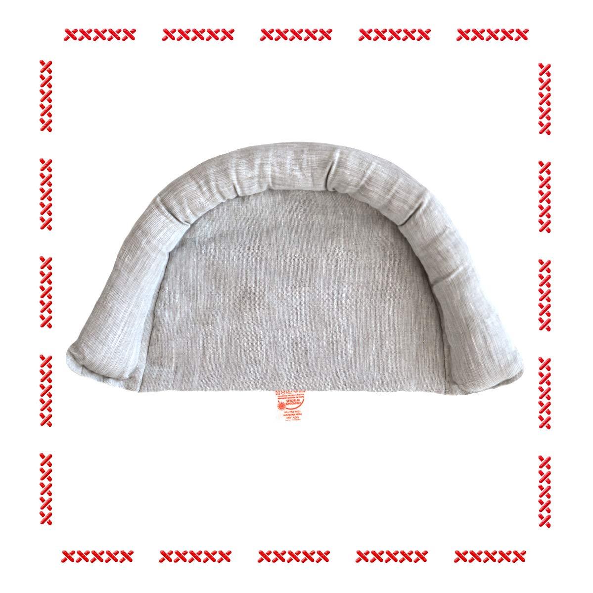 Wholesome Linen Organic Flax Wedge Edge/Bassinet Mattress Bumper/Baby Head Rest/for Newborns from 0-6 Months