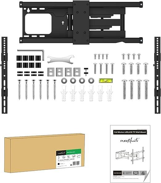 PureMounts FM50-600 Soporte de pared para TV con 81-165cm (32-65 ...