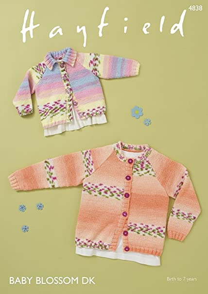 c07eb56a4 Sirdar 4838 Knitting Pattern Baby Childrens Cardigans in Hayfield ...