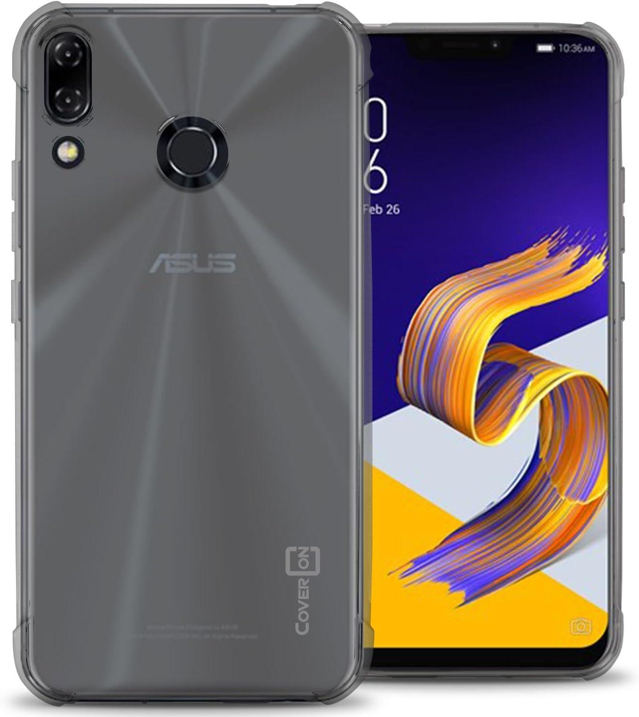 Funda para Asus ZenFone 5, Asus ZenFone 5Z, CoverON FlexGuard Series Slim Fit TPU Funda para teléfono con agarres antideslizantes y amortiguador de esquina para Asus ZenFone 5/ZenFone 5Z (ZS620KL/ZE620KL): Amazon.es: Electrónica