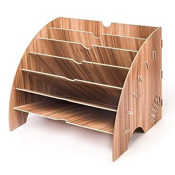 Holz Ablage Holz Buro Schreibwaren Erweiterbar Ablage Fur A4