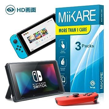 eaebd0b504 Amazon | Nintendo switch 用 保護フィルム MiiKARE「豊かな映像を再現 ...