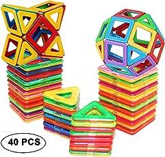 DreambuilderToy Magnetic Tiles Building blocks Toys by (40 PCS)
