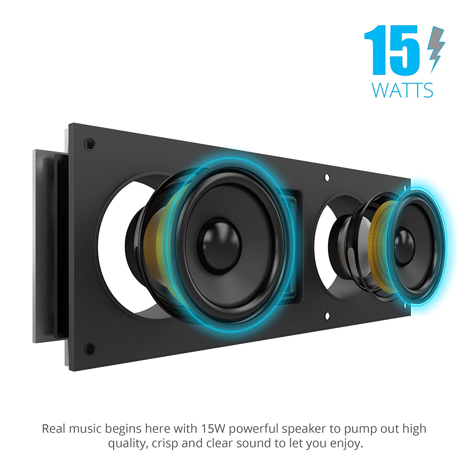 loud portable bluetooth speakers. amazon.com: bigsound 15 watt bluetooth speaker with enhanced bass and loud clear sound portable outdoor stereo wireless long playtime (high speakers