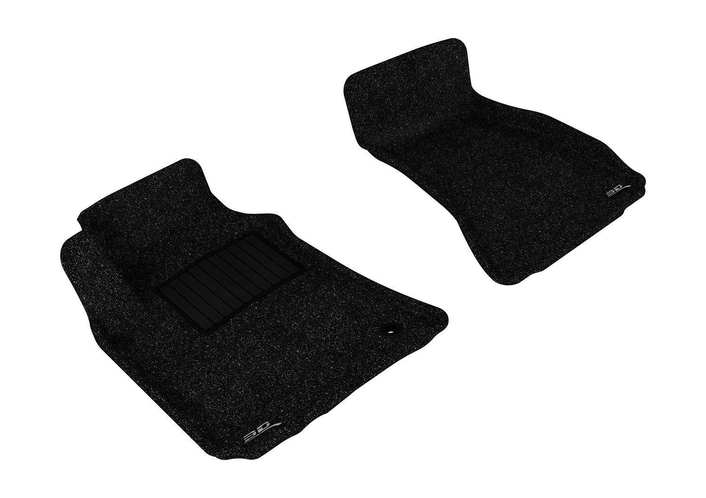 3D MAXpider Complete Set Custom Fit Floor Mat for Select Dodge Challenger Models L1DG01502202 Classic Carpet Tan