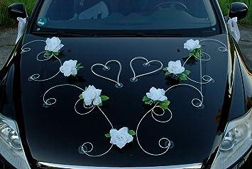 Dekor Auto Schmuck Braut Paar Rose Deko Dekoration Autoschmuck