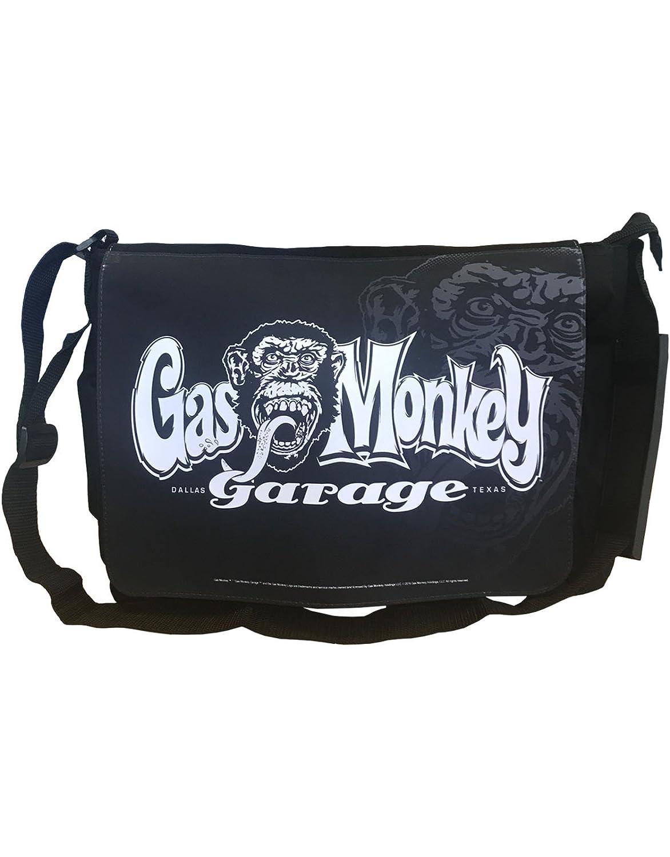 Gas Monkey Garage Messenger Bag Logo Kustom Builds Official Black