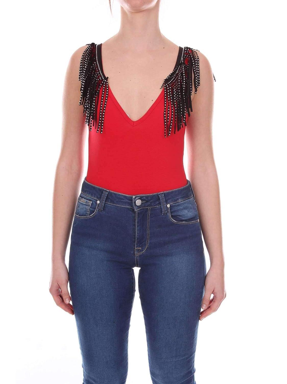 Akep Women's CKE19ROX Red Cotton Bodysuit