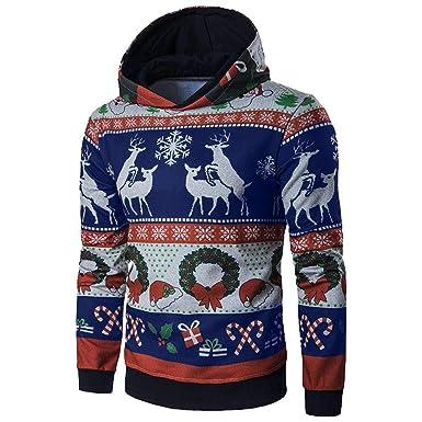 Rovinci Hombres Mujeres Amantes Sudaderas Invierno Navidad de Manga Larga con Capucha Abrigos Jersey Outwear Tops Blusas: Amazon.es: Ropa y accesorios