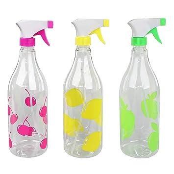 Juego de 3 colores Spray Botellas de 1 L Plástico blumensprüher pflanzensprüher chorro de agua con