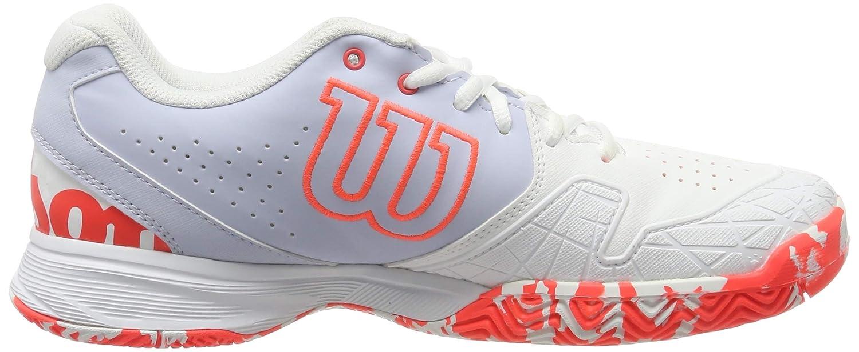 para Mujer para Todo Tipo de Superficies sint/ético Talla 37 EU Wilson Kaos Devo Women Blanco//Azul Claro//Rojo Zapatilla de Tenis para tenistas de Cualquier Nivel