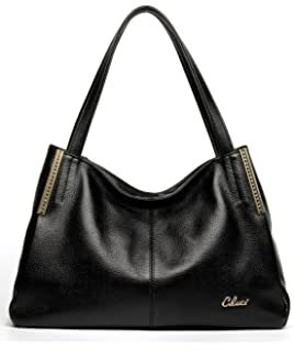 Cluci Leather Handbags Designer Tote Satchel Shoulder Bag Purse ...