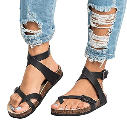 78dc8483d424 SUKULIS NEW Summer Gladiator Shoes Roman Sandals Shoes Buckle Peep-Toe Flat  Shoes Sandalias Mujer