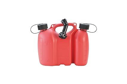 Made in Germany 6 h/ünersdorff PROFI Doppelkanister // Kombikanister f/ür Kraftstoff und /Öl mit Kindersicherung und Auslaufrohr UN-Zulassung 3 Liter