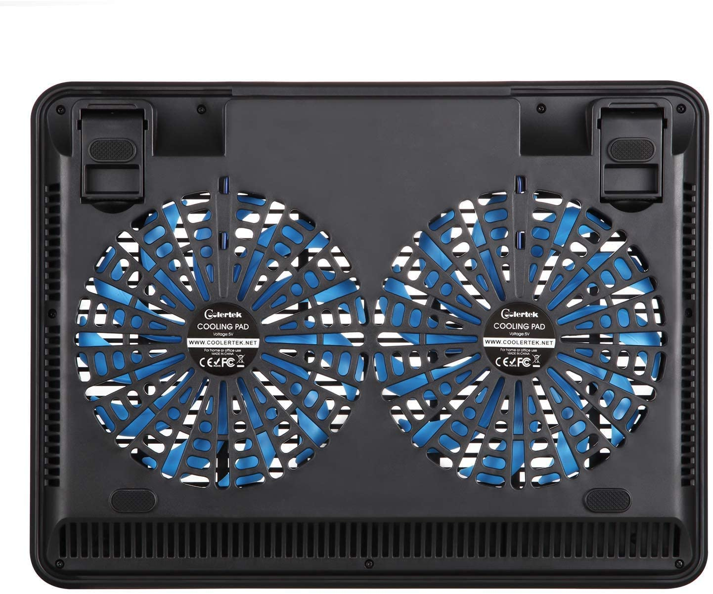 Color : Black Notebook Cooler Oversized Fan Quickly Dissipates Heat Six-Speed Bracket Adjustment Dual USB Interface Office//Game General Laptop Computer Stands Supports Laptops Under 18 Inches