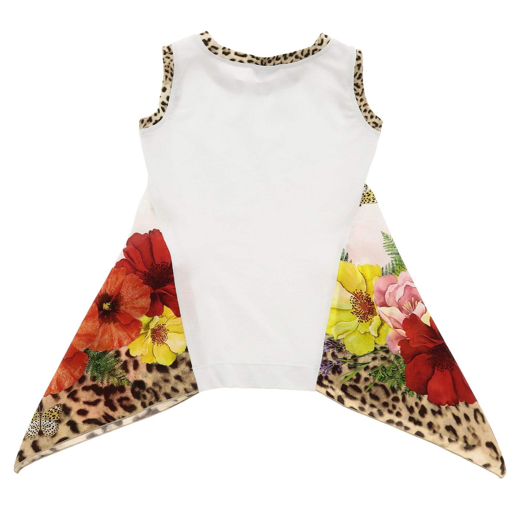 Monnalisa Girls 11363432019980 White Cotton Tank Top by Monnalisa (Image #2)