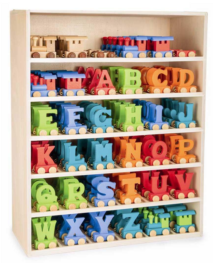 Checklife EISENBAHN BUCHSTABENZUG NAMENSZUG bunt Holzbuchstaben Buchstaben Geburtstagszug (A)
