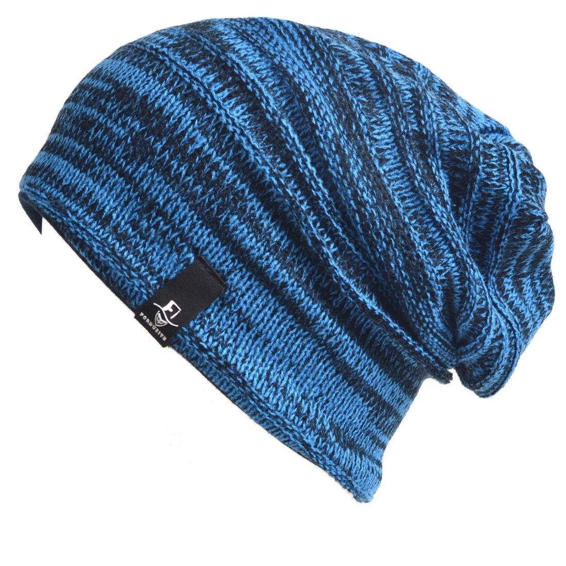 HISSHE Toddler Infant Kids Cap Baby Knit Beanie Skull Cap Winter Hat B5022k (Retro-Blue)