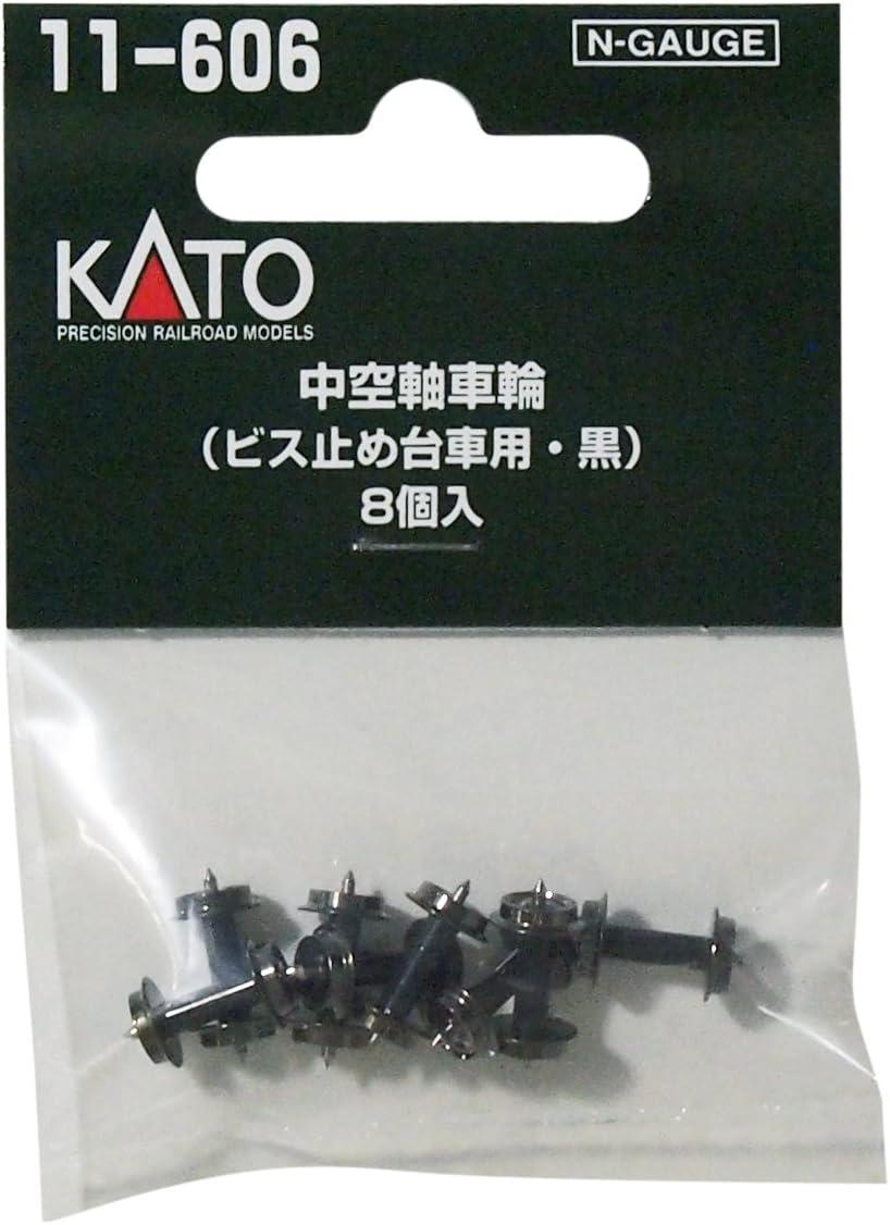 N calibrar 11-606 rueda de eje hueco (tornillos de carruaje, negro) (8 piezas) (Jap?n importaci?n)