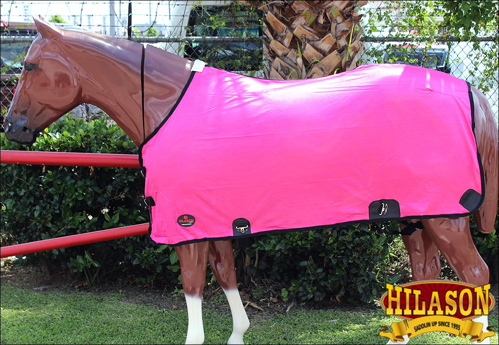 HILASON 69'' Uv Protect Mesh Bug Mosquito Horse Fly Sheet Summer Spring Pink