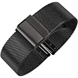 Luxury High-end Fashion Watch Mesh Band Metal Milanese Strap Deluxe Replacement Bracelet for Watch with Solid Safety Folding Clasp 316L Stainless Steel for Men & Women
