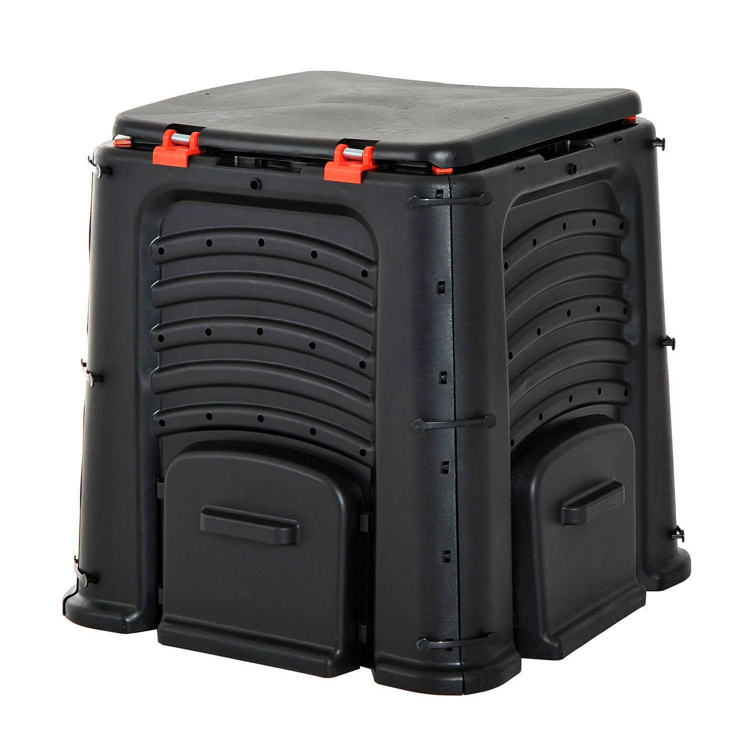 Compost Bin 106 Gallon Garden Yard Waste Food Fertilizer Composter w/ 4 Door