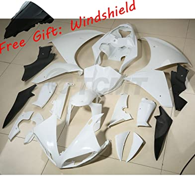 TCMT ABS Plastic INJECTION Unpainted White Motorcycle Fairing Bodywork Kit For YAMAHA YZF R1 YZF-R1 2002 2003