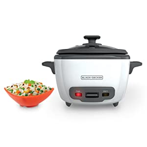 BLACK+DECKER RC514 14-Cup Cooked/7-Cup Uncooked Rice Cooker and Food Steamer White