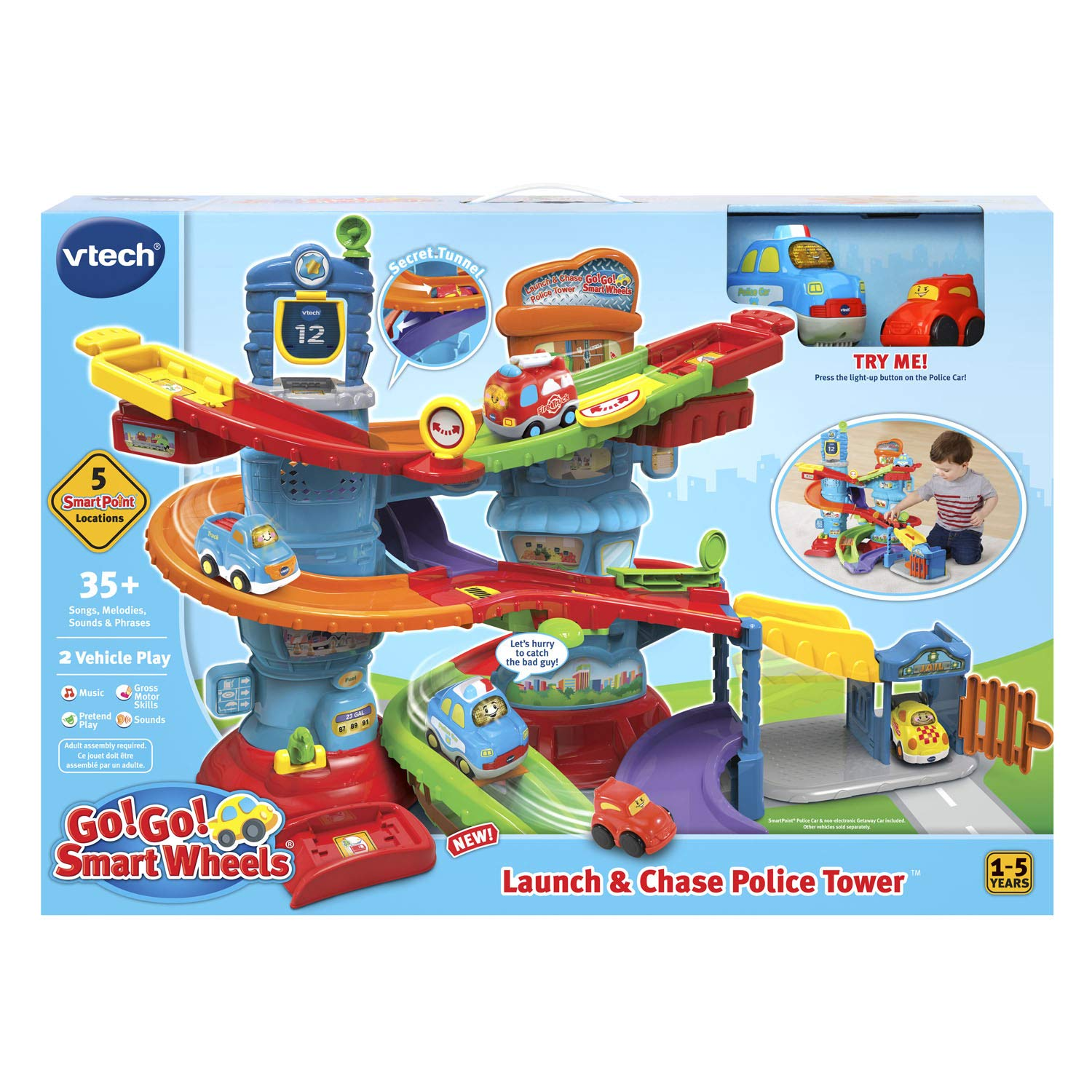 VTech Go! Go! Smart Wheels Launch and Chase Police Tower by VTech (Image #6)