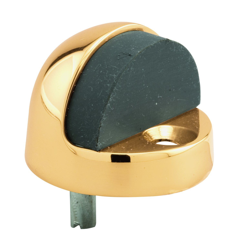 Cast Floor Mount Prime-Line MP4555 Door Stop 1-5//16 Inch Pack of 1 Polished Brass Finish