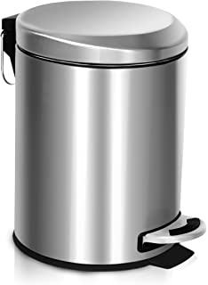 stainless steel trash can with lid mini rust proof