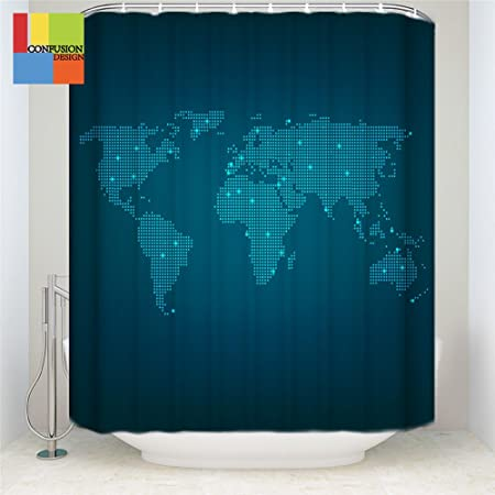 Libin new technology world map print earth in my bathroom novelty libin new technology world map print earth in my bathroom novelty home decor fabric shower curtain gumiabroncs Image collections