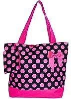J Garden Polka Dot Collection Large Travel Tote Bag 16-inch