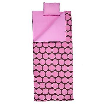 Wildkin 17.085 Puntos grandes - rosa saco de dormir: Amazon.es: Deportes y aire libre