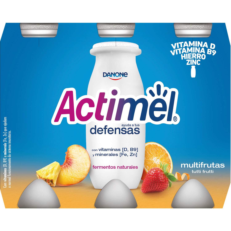 Actimel Danone Multifrutas Yogur Líquido - Pack de 6 x 100 g - Total: 600 g: Amazon.es: Amazon Pantry
