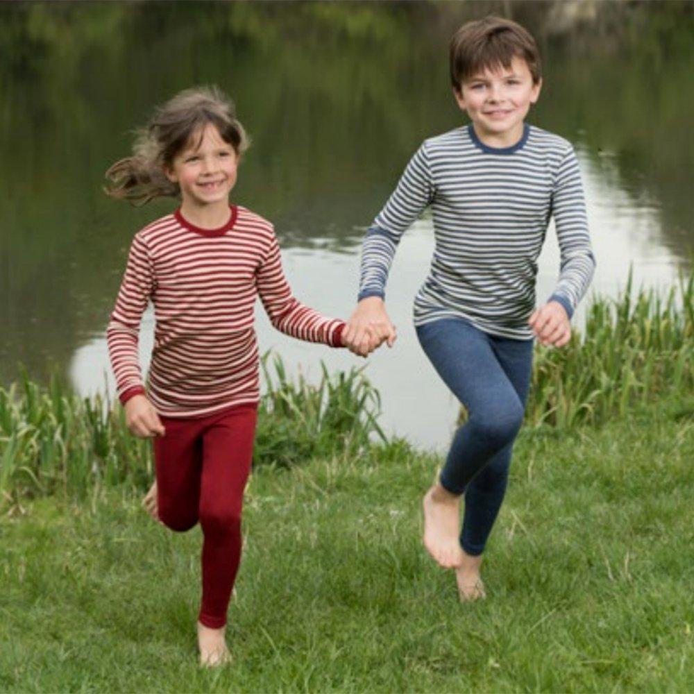 Kids Long Sleeve Thermal Shirt Base Layer or Pajama Top 100/% Organic Merino Wool Sizes 2-10 years Engel