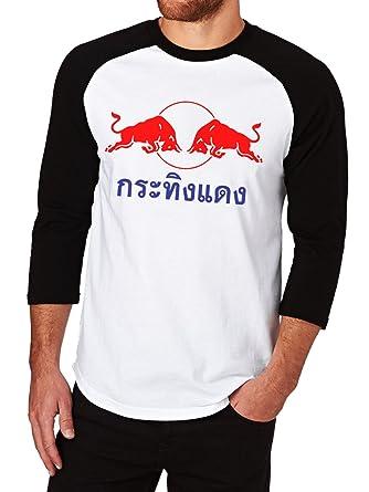 1d2a3cd7 Amazon.com: Red Bull Original Classic Logo Baseball Tee Raglan 3/4 Sleeve  Men's T-Shirt: Clothing